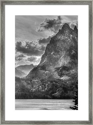 Jenny Lake In Shadow Framed Print by Jeremy Farnsworth
