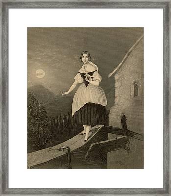 Jenny Lind  Soprano Singer, Seen Here Framed Print