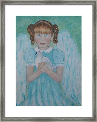Jenny Little Angel Of Peace And Joy Framed Print by The Art With A Heart By Charlotte Phillips