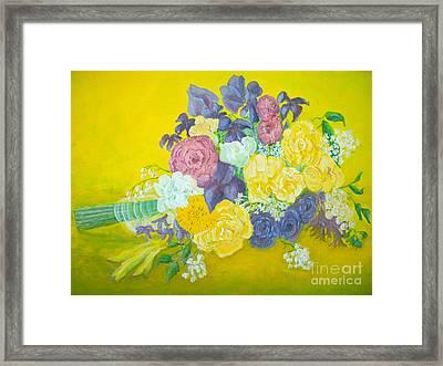 Jen's Wedding Bouquet Framed Print by Paul Galante