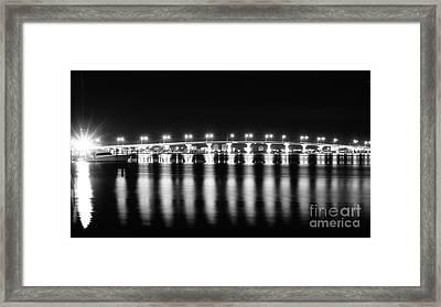 Jensen Causeway B W Framed Print by Lynda Dawson-Youngclaus