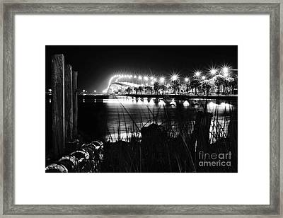 Jensen Causeway From N W Side B W Framed Print