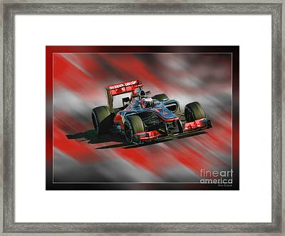 Jenson Button  Framed Print