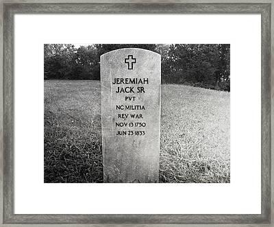 Jeremiah Jack Sr Framed Print