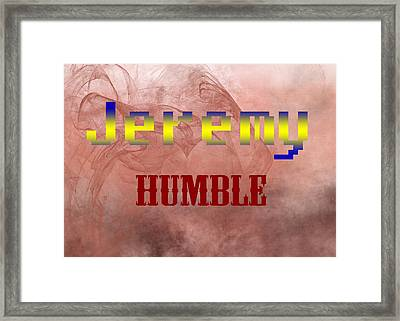 Jeremy - Humble Framed Print by Christopher Gaston