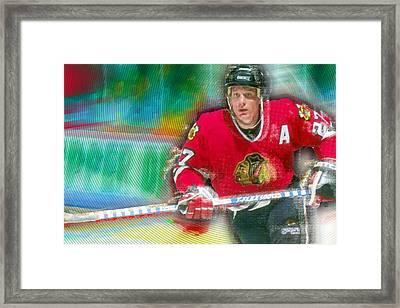 Jeremy Roenick Chicago Blackhawks  Framed Print by Tony Rubino