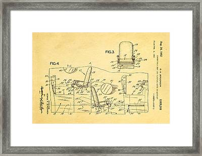 Jergenson Aircraft Sleeper Cabin Patent Art 2 1952 Framed Print by Ian Monk