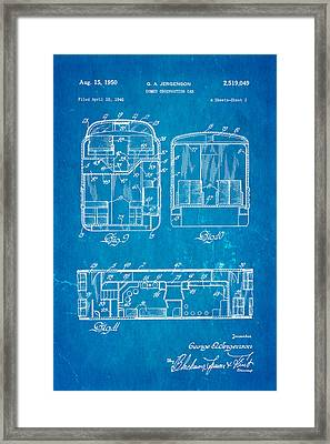 Jergenson Domed Observation Car Patent Art 1950 Blueprint Framed Print by Ian Monk