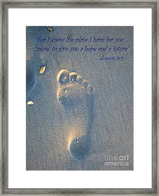 Jeremiah 29 Framed Print by Jocelyn Stephenson