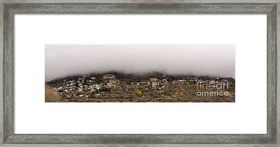 Framed Print featuring the photograph Jerome Arizona Beneath The Clouds by Ron Chilston