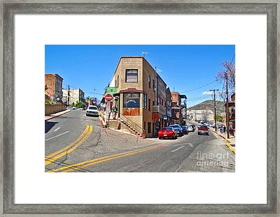Jerome Arizona - Flatiron Cafe - 01 Framed Print by Gregory Dyer