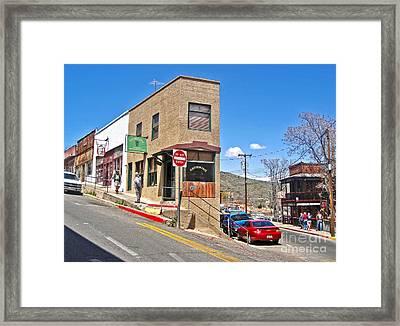 Jerome Arizona - Flatiron Cafe - 02 Framed Print by Gregory Dyer