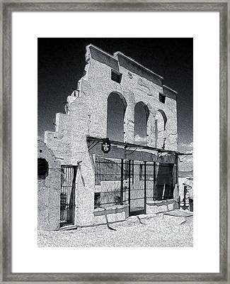Jerome Arizona - Jailhouse Ruins Framed Print by Gregory Dyer