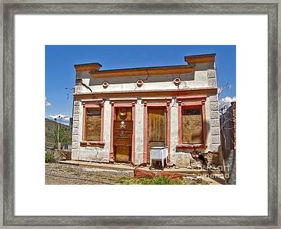 Jerome Arizona - Miner Shack Framed Print by Gregory Dyer