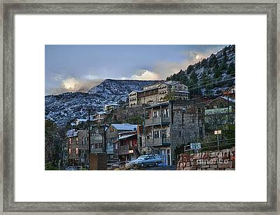 Framed Print featuring the photograph Jerome Arizona Sunrise Hdr by Ron Chilston