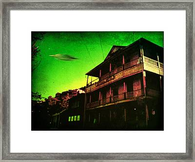 Jerome Az Visitor Framed Print by Milton Thompson