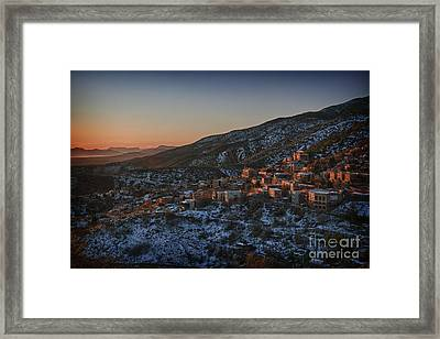 Jerome Sunrise From Sunshine Hill Framed Print