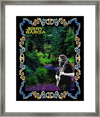 Framed Print featuring the photograph Jerry At Psychedelic Creek by Ben Upham