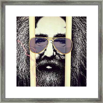 Jerry Garcia Can See You ... Grateful Dead Framed Print by Patricia Januszkiewicz