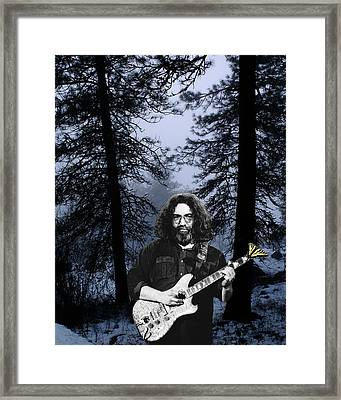 Framed Print featuring the photograph Jerry Cold Rain And Snow by Ben Upham