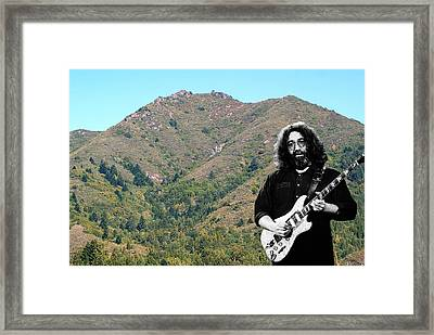 Jerry Garcia And Mount Tamalpais Framed Print by Ben Upham III