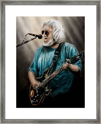 Jerry Garcia By Edward Pollick Framed Print by Edward Pollick