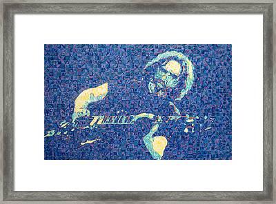 Jerry Garcia Chuck Close Style Framed Print by Joshua Morton
