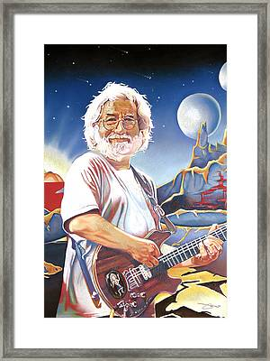 Jerry Garcia Live At The Mars Hotel Framed Print by Joshua Morton