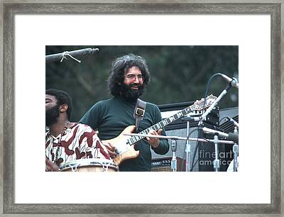 Jerry Garcia Framed Print by Ron Draper