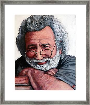 Jerry Garcia Framed Print by Tom Roderick
