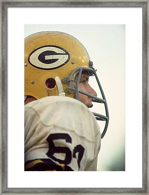 Jerry Kramer Close Up Framed Print by Retro Images Archive