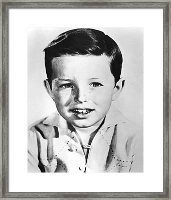 Jerry Mathers In Leave It To Beaver  Framed Print