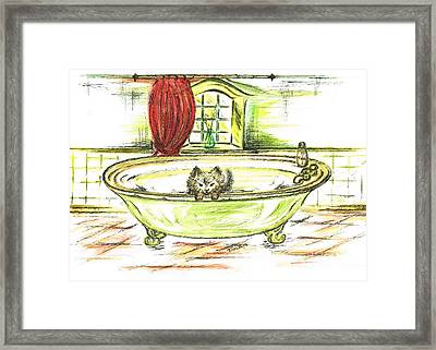 Jerry Playing Framed Print by Teresa White