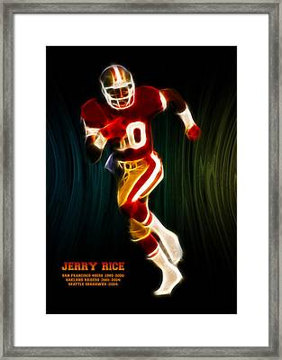 Jerry Rice Framed Print by Aged Pixel