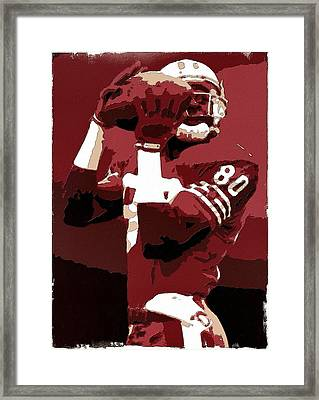 Jerry Rice Poster Art Framed Print