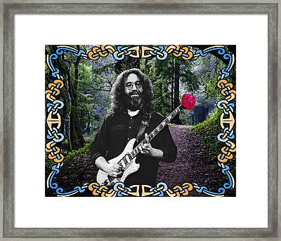 Jerry Road Rose 1 Framed Print by Ben Upham
