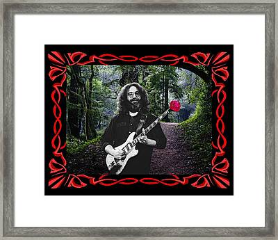 Framed Print featuring the photograph Jerry Road Rose 2 by Ben Upham