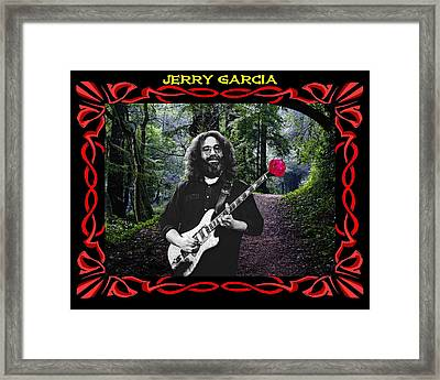 Framed Print featuring the photograph Jerry Road Rose 3 by Ben Upham