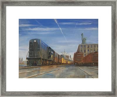 Jersey Central Lines Framed Print by Christopher Jenkins