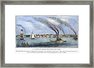Jersey City, 1844 Framed Print by Granger