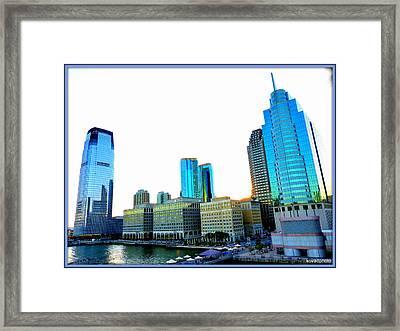 Jersey City Framed Print by David Kovac