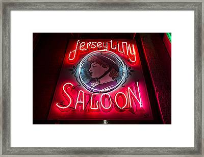 Jersey Lilly Saloon Framed Print