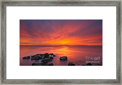 Jersey Shores Fire In The Sky 16x9 Framed Print