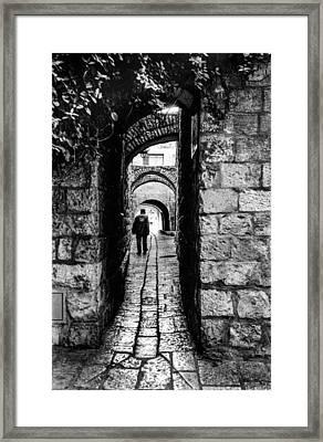 Jerusalem Alley Framed Print