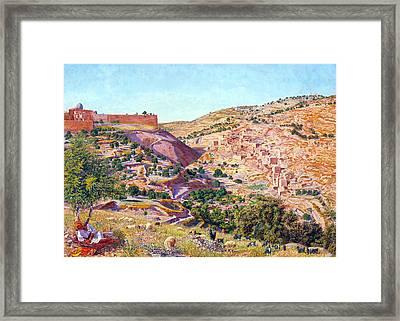 Jerusalem And The Valley Of Jehoshaphat Framed Print
