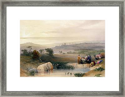 Jerusalem, April 1839 Framed Print
