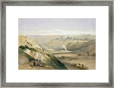 Jerusalem April 5th 1839 Framed Print by David Roberts
