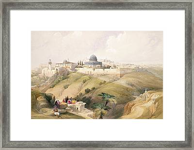 Jerusalem, April 9th 1839, Plate 16 Framed Print