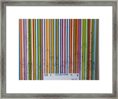 Jerusalem Barcode Framed Print by Hanna Fluk