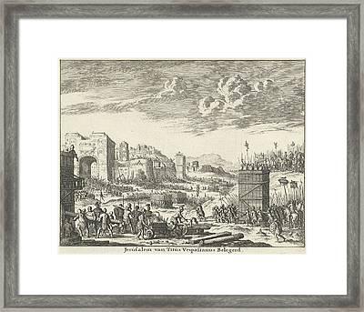 Jerusalem Besieged By Titus Variant A, Jan Luyken Framed Print by Quint Lox